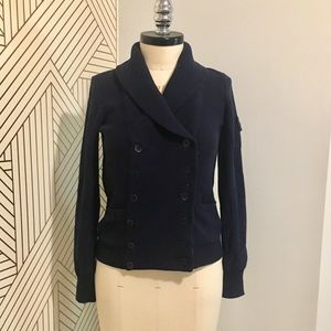 Jcrew Navy double breasted sweater